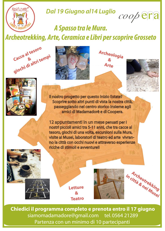 """""""A spasso tra le mura. Archeotrekking, Arte, Ceramica e Libri per scoprire Grosseto"""""""
